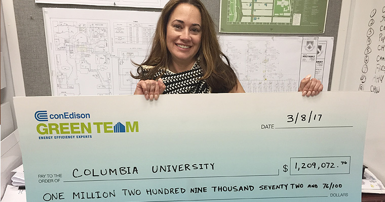 Gotham360's Incentive Management Services Secures a $1.2 Million Check for Columbia University's Commitment to Energy Efficiency